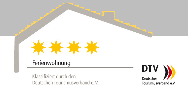 awarded the **** four-star rating of the German Tourism Association (DTV)